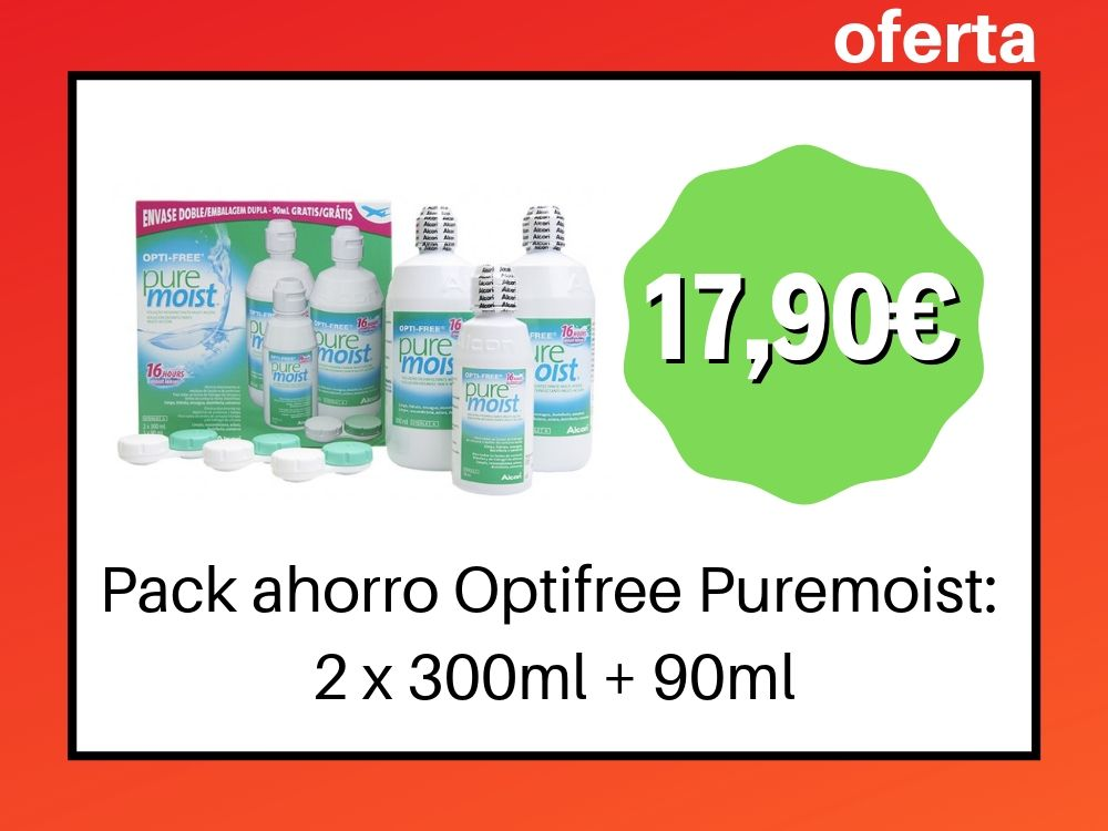 Pack Optifree Puremoist 2 x 300ml + 90ml